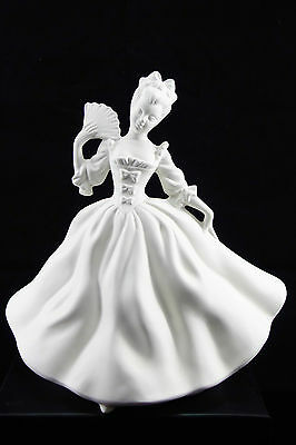 Ready to paint ceramic bisque - Lady Jane with fan  25 cm tall Ornament