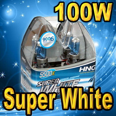 Pair 9006 HB4 9012 Super White Xenon Headlight Bulbs For Low Beam 100W .