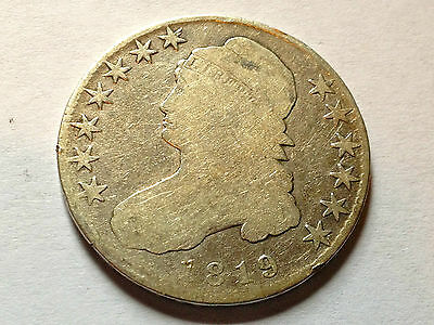 1819 Bust Half Silver Dollar Coin Great Collector Type Coin