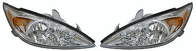 Toyota Camry 02-05 Right Rh & Left Lh Headlight Headlamps Le/Xle Pair Set