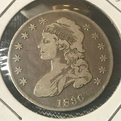 1836 Bust Half Silver Dollar Coin Great Collector Type Coin