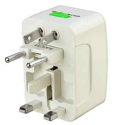 Universal Charger World Wide Travel Adapter Plug US/EU/AC/AU/UK Power White