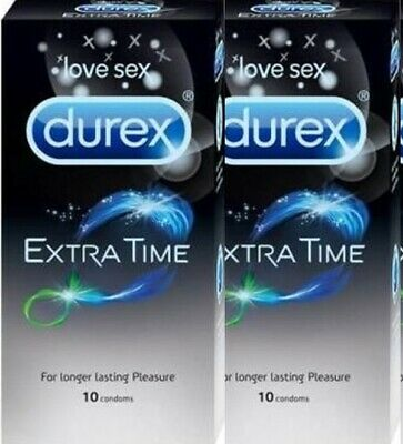Durex Extended Pleasure Extra Time Long Last Sex Delay Sealed Box 20 Condoms