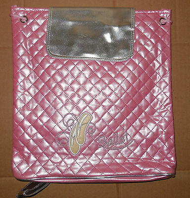 NWT Horizon GIRLS QUILTED PINK BACKPACK DANCE BAG Drawstring Adjustable Straps