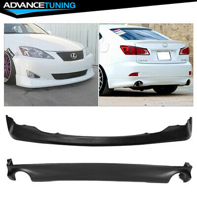 For 06-12 IS250 IS350 TYPE J Black Urethane Rear Bumper Lip DIFFUSER Body kit