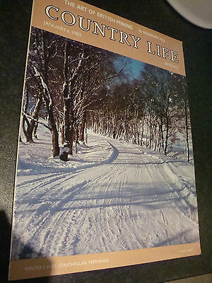 OLD VINTAGE 1980s COUNTRY LIFE MAGAZINE 6 jan 1983 HOUSE SALE ADVERTS