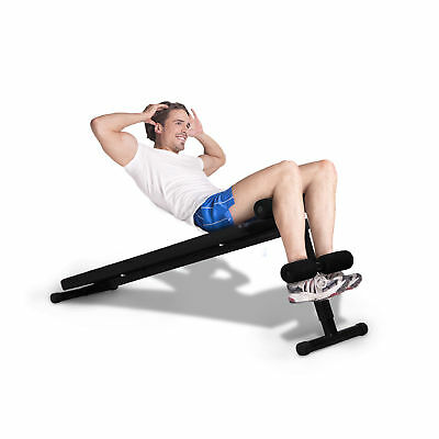 Soozier Portable Universal Sit Up Bench Fitness Folding Decline Adjustable
