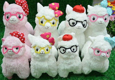 Arpakasso Alpacasso Alpaca Glasses Student Stuffed Toy Plush Doll KAWAII GIFT