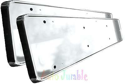 FORD MONDEO FOCUS ST x2 ABS chrome CAR number plate surrounds holder frames