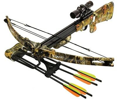 New PSE CopperHead TS Crossbow Package Scope, Quiver, 4 Bolts & Rope Cocker