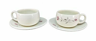 FRANCISCAN china DUET pattern CUP & SAUCER Set of 2
