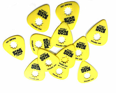 Everly Star Guitar Picks  12 Pack  .73mm  Yellow