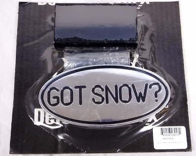 "DefenderWorx DFW-26013 Got Snow? Oval Aluminum Hitch Cover/Plug Fits 2"" NEW"