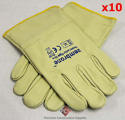 *SALE* 10prs X-Large (size 11) Budget Leather Rigger Gloves *SALE*