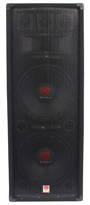 "Rockville RSG12.2 Dual 12"" 2000 Watt 3-Way 8-Ohm Passive DJ/Pro Audio PA Speaker"