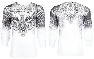 Xtreme Couture AFFLICTION Mens THERMAL T-Shirt LEGENDARY Tattoo Biker M-3XL $58