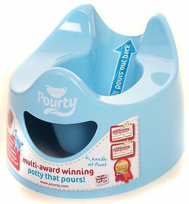 Pourty Baby Toilet Training Potty - Easy Clean & Empty - Blue