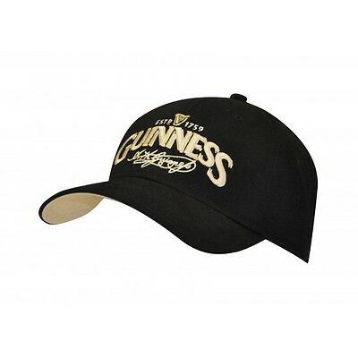 Guinness Guiness Black Claddagh Fitted Baseball Cap Hat
