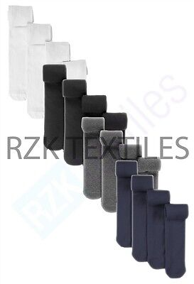 Pack Of 3 Girls Tights, Soft Cotton Rich Lycra School Tights, Black Navy Grey