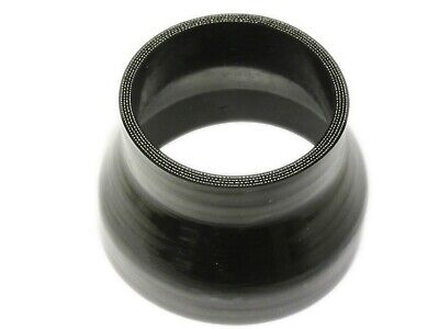 "BLACK Silicone Hose 102mm to 76mm Reducer (100mm Silicon) 4"" - 3"" Inch"