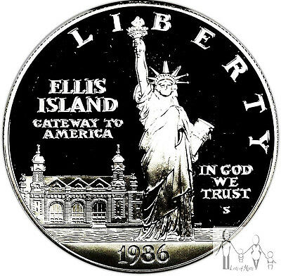 1986 S Proof Statue of Liberty Commemorative Silver Dollar US Coin cm5