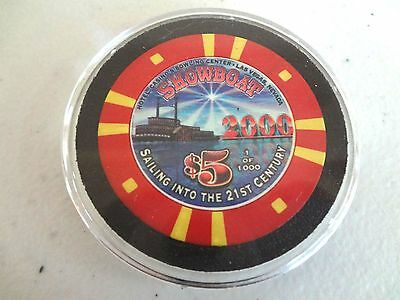 SHOWBOAT LV SAILING INTO THE 21st CENTURY 2000 $5 CASINO CHIP
