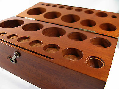 Large Antique Mahogany Weight Box for 13 Weights + Space Fractional for Weights.