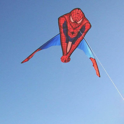 50 inch Large Spiderman Kite Easy Flying Kite with Lines Outdoor Family Kids Toy