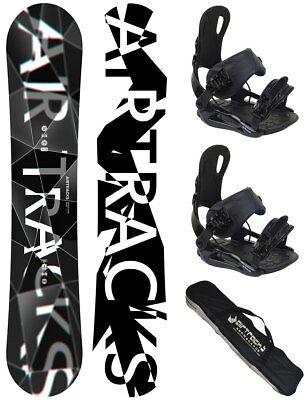 Snowboard Set AIRTRACKS Wild Wide Rocker+Bindung Savage+Bag / 156 159 163 165 cm