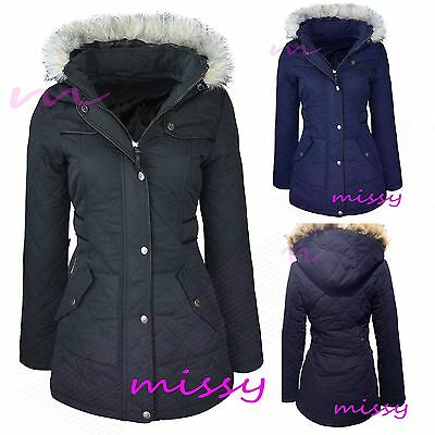 PARKA GIRLS New JACKET COAT HOODED Girls Padded CLOTHING AGE 7 8 9 10 11 12 13 m