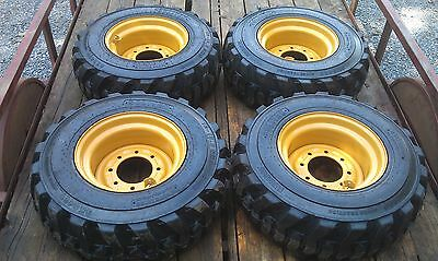 4 NEW 12X16.5 Tires & Rims for Gehl, Mustang & others- 12-16.5 -Tire & Wheel set