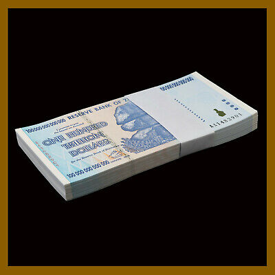 Zimbabwe 100 Trillion Dollars x 100 Pcs Bundle, 2008 AA P-91 Unc