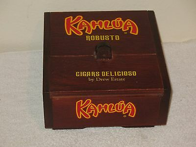 Kahlua Robusto Wood Cigar Box CIGARS DELICIOSO BY DREW ESTATE