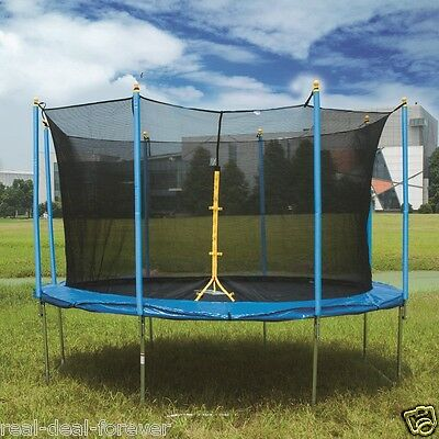 6FT-14FT Trampoline Kid&Adult Outdoor Trampoline With Safety Net Enclosure Gifts