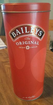 Rare Baileys Irish Cream Collectors round Tin  Canister excellent used condition