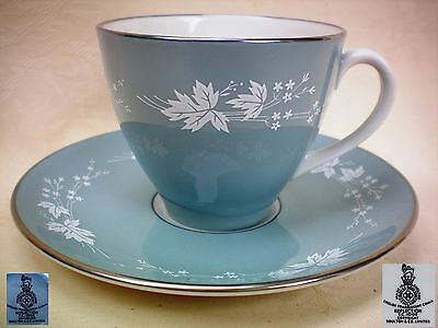 Royal Doulton Reflection TC1008 Demi Tasse Coffee Cup & Saucer Excellent Cond