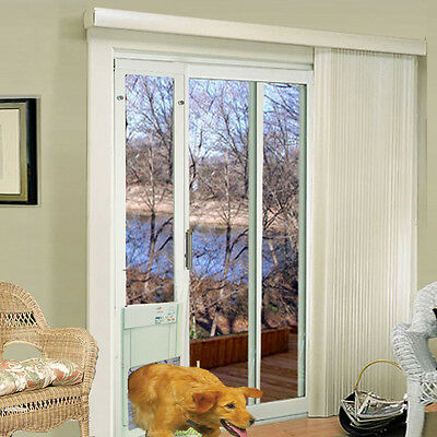 Power Pet Lg Automatic Sldng Gls LowE Pet Door-FACTORY DIRECT From HIGH TECH PET