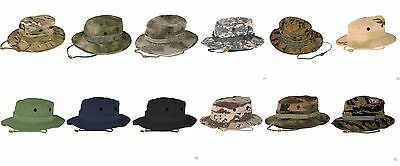 "Propper Boonie Hat Military Spec Camo 2 1/4"" Brim Ripstop New"