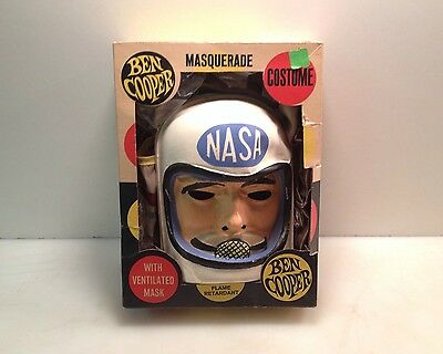 Vintage Masquerade Nasa Astronaut Mask Suit Box Ben Cooper Usa Large