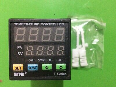 Dual Digital F/C PID Temperature Controller TA4E-SSR 24V DC+ K thermocouple