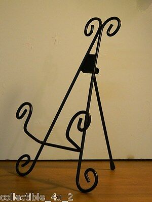 """11"""" Elegant Scroll Wrought Iron Display Easel For Book Plate Or Fine China"""