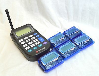 5 Restaurant Office, Hospital, Server Paging Pager System Kit - NEW