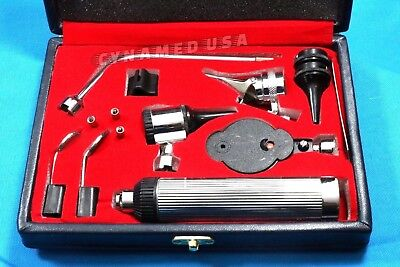 High Quality OPHTHALMOSCOPE / OTOSCOPE Set ENT Surgical Instruments W/two bulb