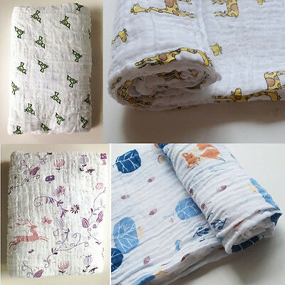 1 Pc Cotton Yarn Muslin Square Baby Care Soft 100% Cotton Baby Blanke 120x120cm