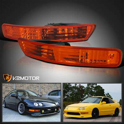 1998-2001 Acura Integra JDM Amber Bumper Parking Lights