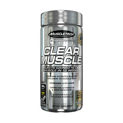 MuscleTech Clear Muscle -Construit Musculaire Maigre Supplément(168 Capsules)