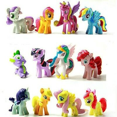 5CM 12PCS/Set Colourful My Little Pony Cake Toppers Doll PVC Action Figures Toy