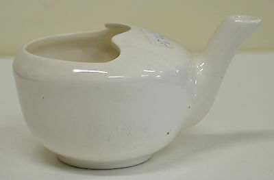 Porcelain Soup, Broth Feeding Cup with Handle & Spout, Made In England