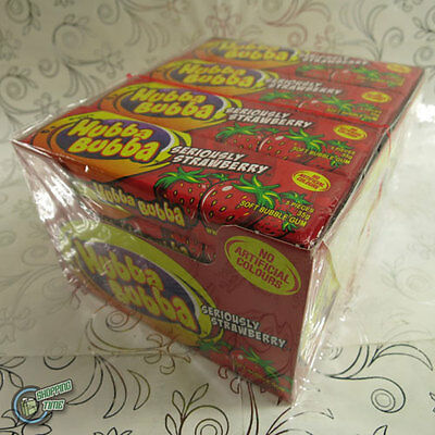 20x 5pcs Hubba Bubba Wrigley's Soft Bubble Gum Wrigley Seriously Strawberry Red