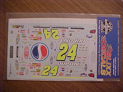"BRAND NEW 2002 JEFF GORDON #24 DUPONT ""PEPSI""  1/24-1/25 SCALE SLIXX DECAL SHEET"